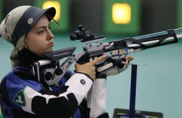 آرمینا صادقیان در جایگاه هفتم ایستاد