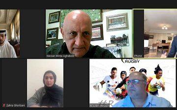 حمایت رئیس کنفدراسیون راگبی آسیا از ایران در جلسه آنلاین با مسئولین راگبی ایران